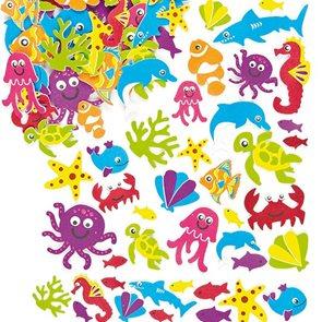 Samolepky pěnové - Mořský svět 108 ks