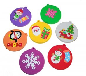 Pěnovka k dotvoření - vánoční ozdoby - 8 ks