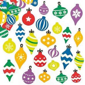 Samolepky pěnové - Vánoční ozdoby - 120 ks