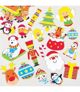 Samolepky pěnové - Vánoční - 100 ks