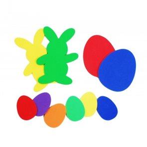 Velikonoční zajíček s vajíčky - 8 ks