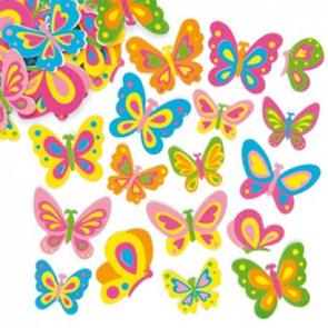 Samolepky pěnové - Motýlci - 102 ks