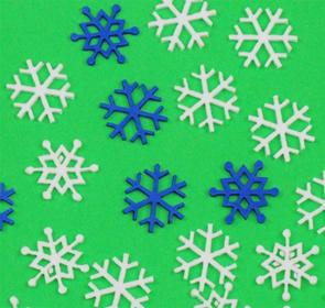 Pěnové sněhové vločky - 30 ks