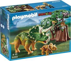 Badatel a Triceratops s mládětem - Playmobil - novinka 2013