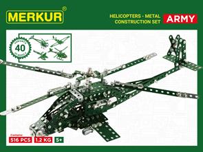Merkur stavebnice - Helikopter Set
