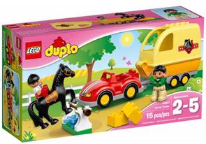 LEGO DUPLO 10807 Přívěs pro koně - DUPLO LEGO Town, věk 2-5, novinka 2016