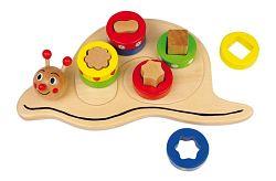 Šnek - poznej tvary - dřevěná hračka 2414 - Legler