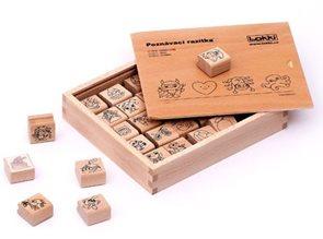 Dřevěná rozlišovací razítka pro mateřské školky /oblíbené/