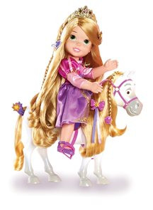 Panenka Mladá Locika a kůň Maximus 37 cm