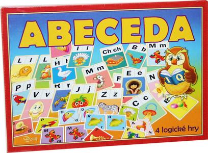Abeceda - stolní hra / 4 logické hry/ - 25,5×20×4 cm
