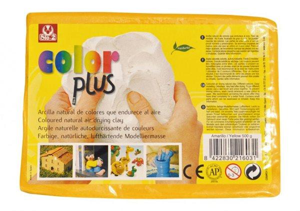 Keramická hmota Color Plus bez výpalu - 0,5 kg žlutá