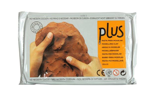 Keramická hmota Plus bez výpalu - 1,0 kg terakota
