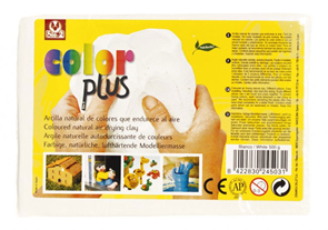 Keramická hmota Color Plus bez výpalu - 0,5 kg bílá