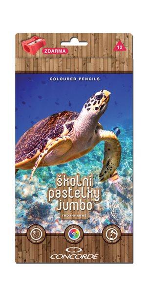 Pastelky CONCORDE Jumbo - trojhranné - 12 barev