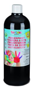 Prstová barva Toy Color - 1000 ml - černá