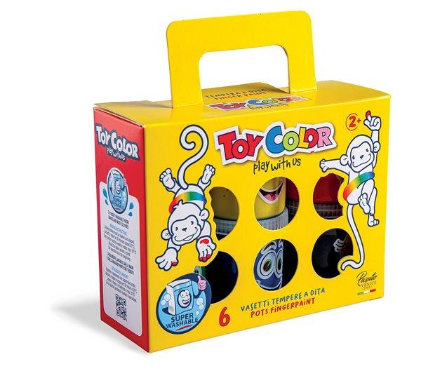 Prstové barvy Toy Color - sada 6 x 80 ml