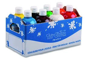 Temperová barva Toy Color - box 8 x 500 ml