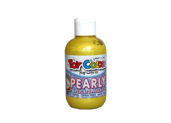 Temperová barva Toy Color - 250 ml - perleťová žlutá, Sleva 20%