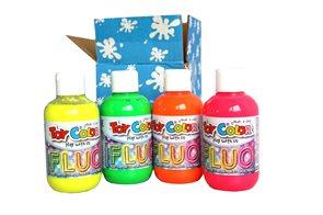 Temperová barva Toy Color - box 4 x 250 ml - fluorescentní barvy