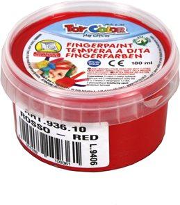 Prstová barva TOY COLOR - 180 ml - barva červená