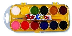 Vodové barvy TOY COLOR - 30 mm - 12 barev