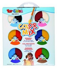 Vodové barvy Colormix MAXI - 57 mm - 6 barev