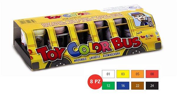 Temperové barvy Toy COLOR - 8 barev - 25 ml