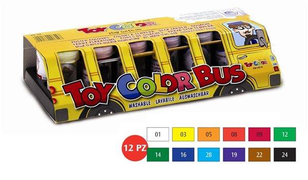 Temperové barvy Toy COLOR - 12 barev - 25 ml
