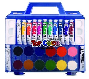 Temperové + vodové barvy TOY Color