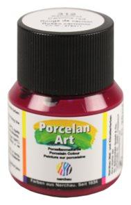 Barva na porcelán Nerchau - 20 ml - karmínová červeň