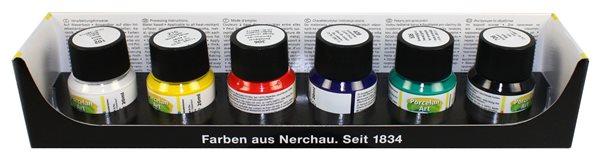Barvy na porcelán Nerchau - sada 6 x 20 ml