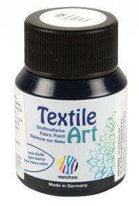 Barva na světlý textil Nerchau, 59 ml - černá