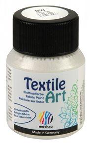 Barva na textil Nerchau - Textile Art - 59 ml - stříbrná perleť