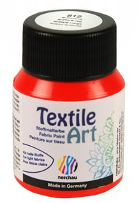 Barva na textil Nerchau - Textile Art - 59 ml - brilantní červená