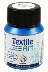 Barva na textil Nerchau - Textile Art - 59 ml - modrá metalíza