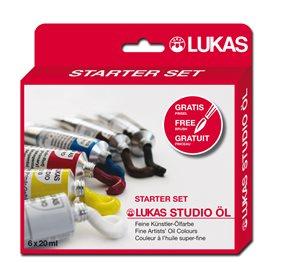 Olejové barvy LUKAS Studio - 6 x 20 ml + štětec