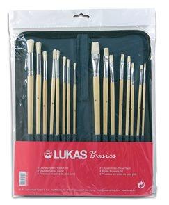 Sada štětců LUKAS - 8x plochý + 8x kulatý