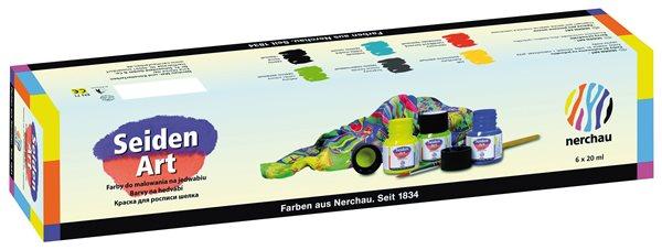 Sada barev na hedvábí Nerchau - 6 x 20 ml
