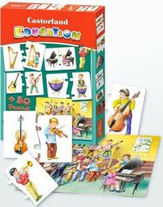 Puzzle vzdělávací - Hudební nástroje (24+ 60 dílků)