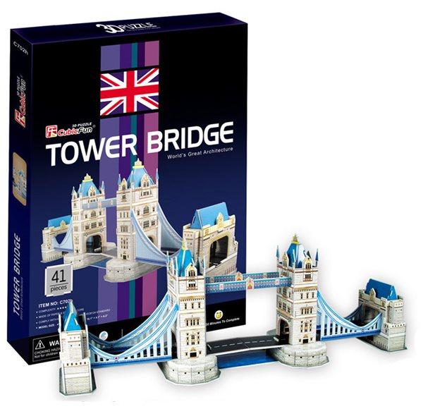 Puzzle 3D - prostorové - Tower Bridge (41 dílků)