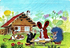Pěnové puzzle Krtek 6 dílků, velikost obrázku 29×21 cm