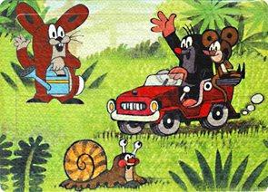 Pěnové puzzle Krtek 24 dílků, velikost obrázku 29×21 cm
