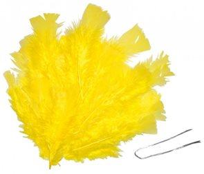 Peří - žluté, 48 ks