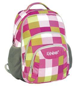 Školní batoh EXPLORE - Zigzag - růžovozelený