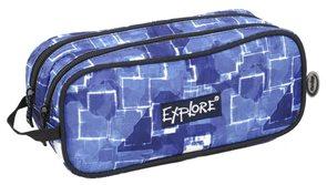 Školní pouzdro Explore - Fading squares - modré
