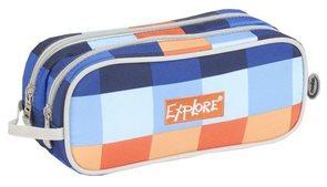 Školní pouzdro Explore - Orange plaid