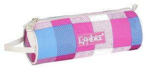 Školní pouzdro Explore - Zigzag - růžovomodré