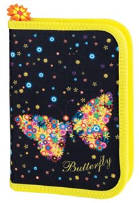 Školní penál Easy - Motýl - 1 patrový s 1 chlopní