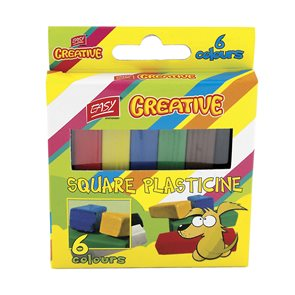 Plastelína Easy hranatá - 6 barev
