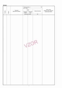 Zásobník pokutových bloků-vložka - vzor č. 1